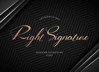 Right Signature Font
