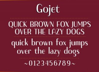 Gojet Font
