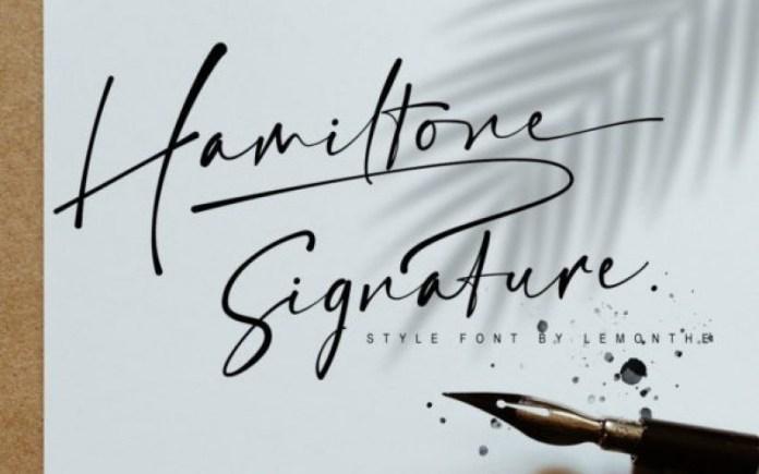 Hamiltone Font