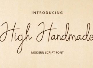 High Handmade Font
