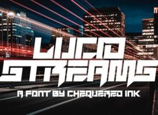 Lucid Streams Font