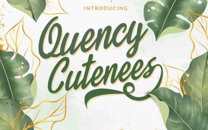 Quency Cutenees Font