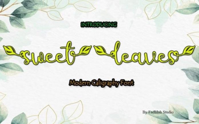 Sweet Leaves Font