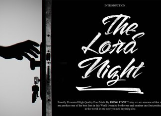 The Lord Night Font