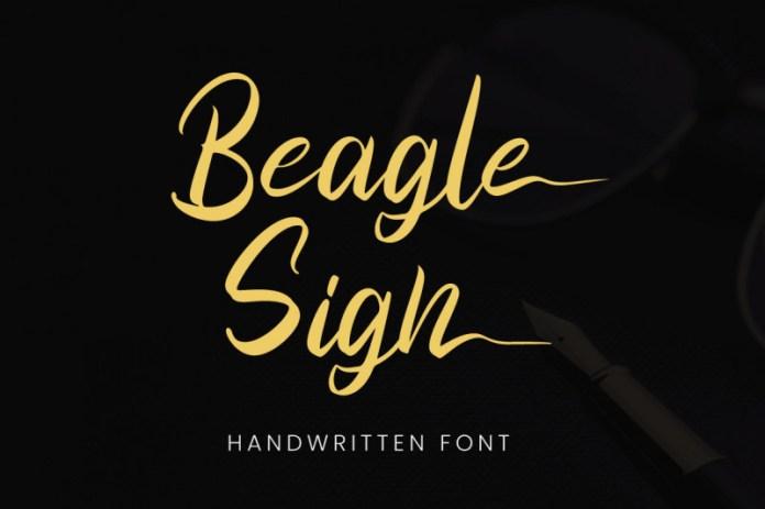 Beagle Sign Font