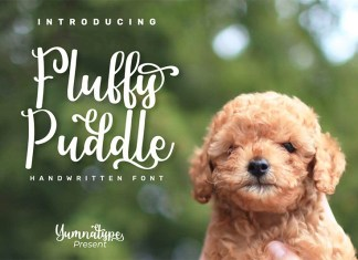 Fluffy Puddle Font