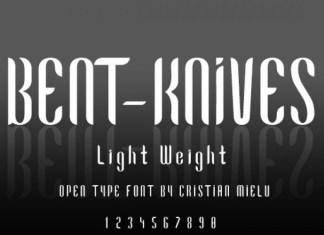 Bent Knives Font