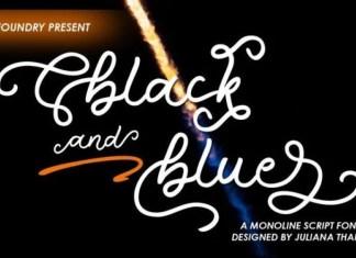 Black And Blue Font
