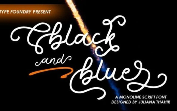 Black And Blue Font