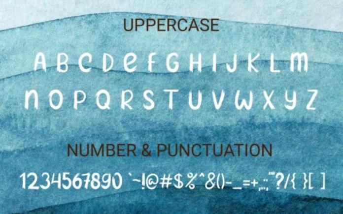 Blue Paint Font