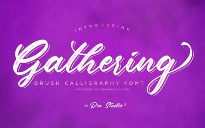 Gathering Font