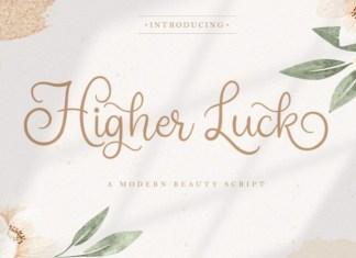 Higher Luck Font