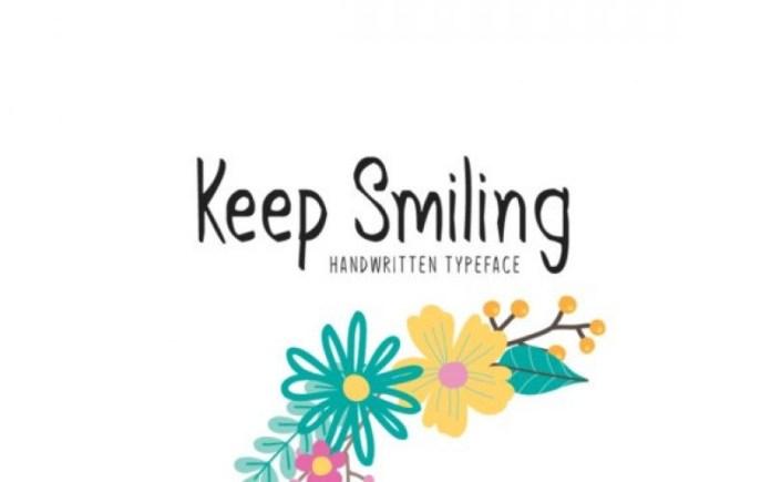 Keep Smiling Font