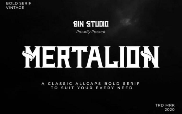 Mertalion Font