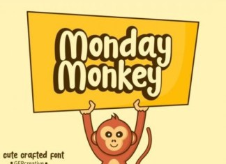 Monday Monkey Font