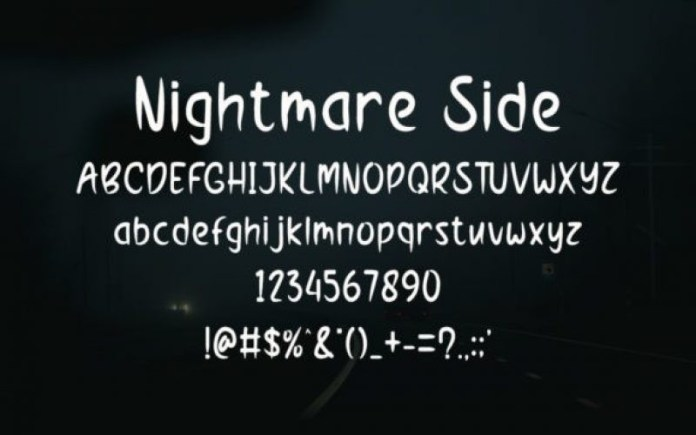 Nightmare Side Font