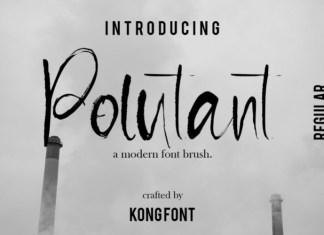 Pollutant Font
