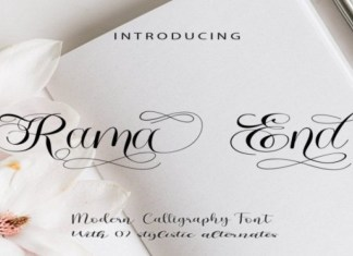 Rama End Font
