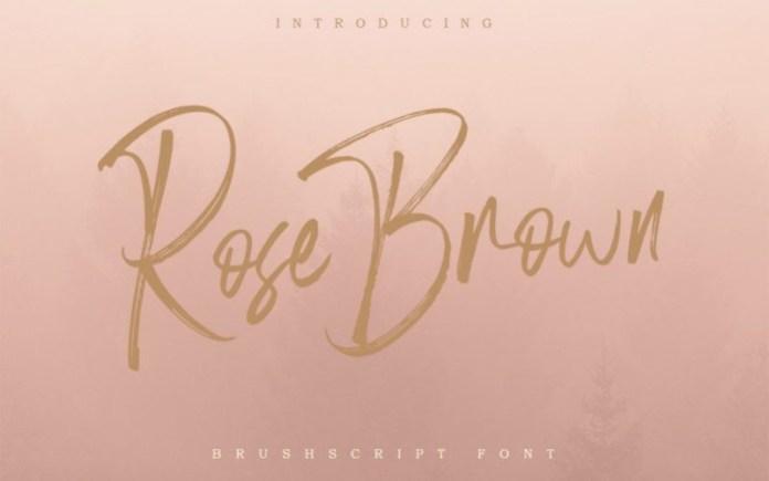 Rose Brown Font