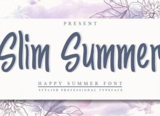 Slim Summer Font