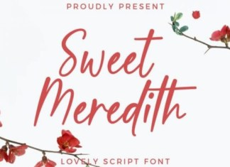 Sweet Meredith Font