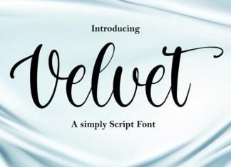 Velvet Font