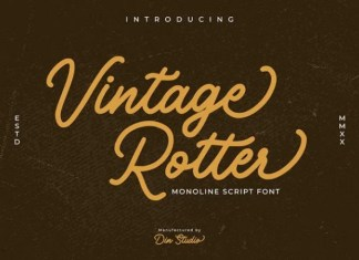 Vintage Rotter Font
