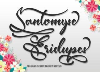 Santomyse Eridupes Font