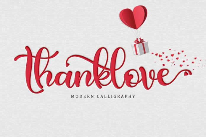 Thanklove Font