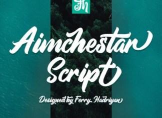 Aimchestar Font