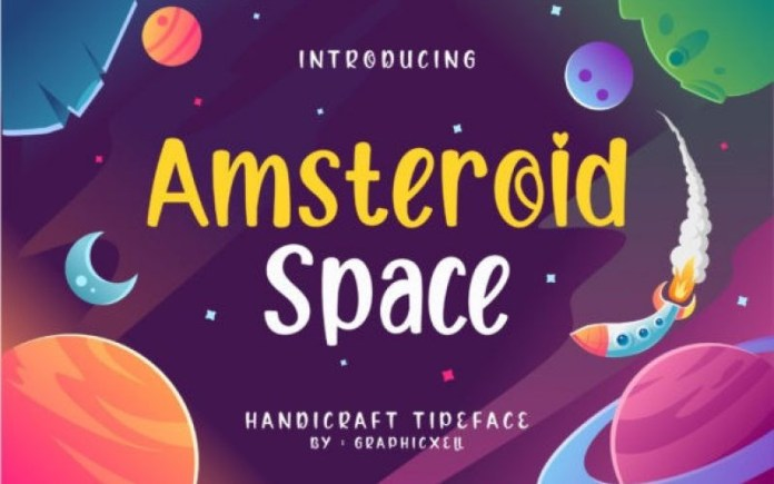 Amsteroid Space Font