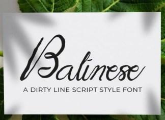 Balinese Font
