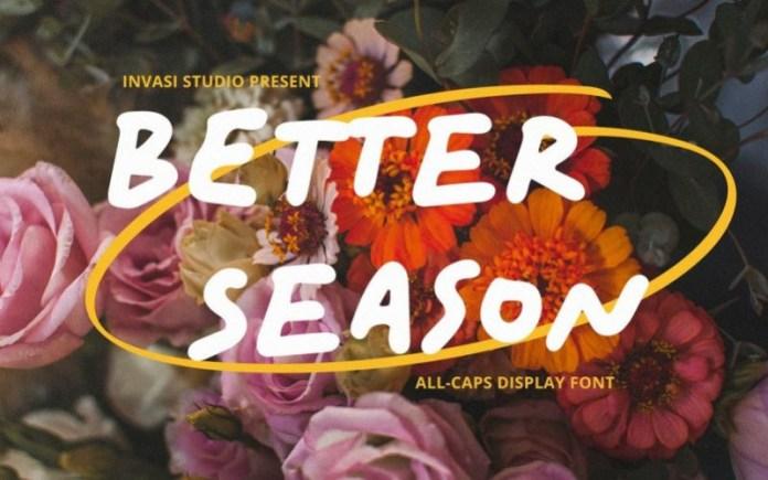Better Season Font