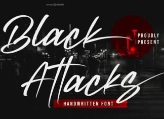 Black Attacks Font
