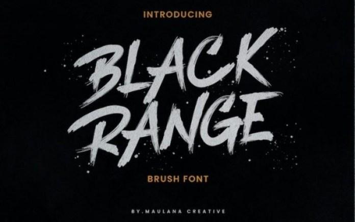 Black Range Font