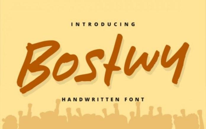 Bostwy Font