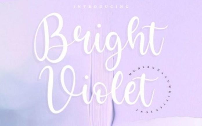 Bright Violet Font