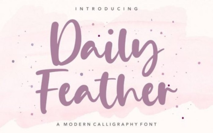 Daily Feather Font