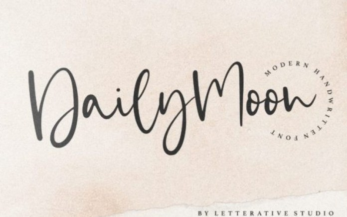 Daily Moon Font