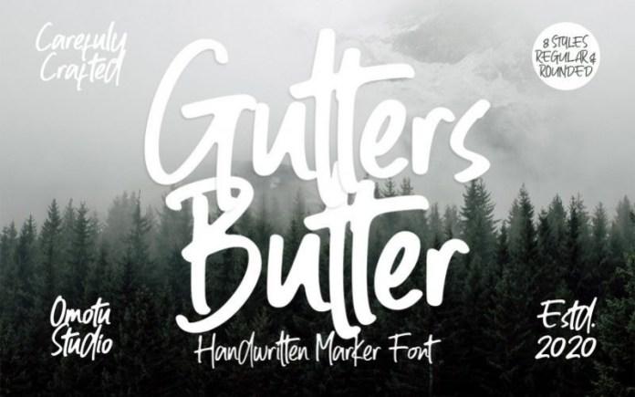 Gutters Butter Font
