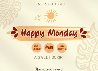 Happy Monday Font