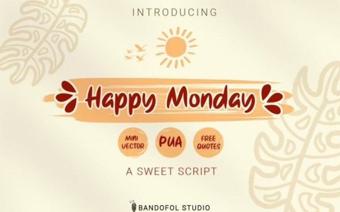 Happy Monday Font