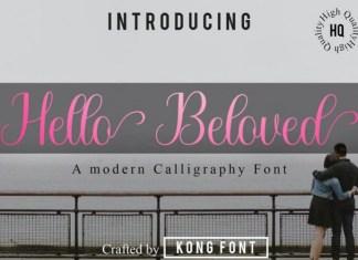Hello Beloved Font