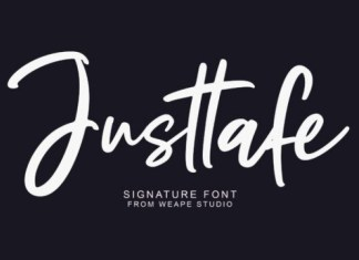 Justtafe Font