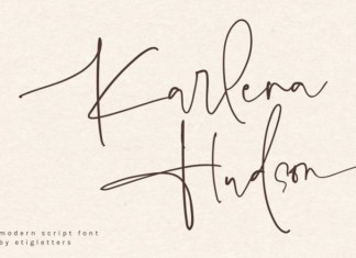 Karlena Hudson Font
