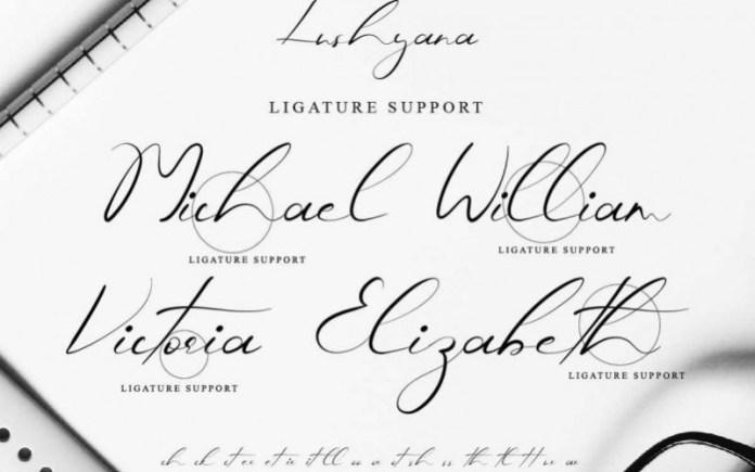 Lushyana Font
