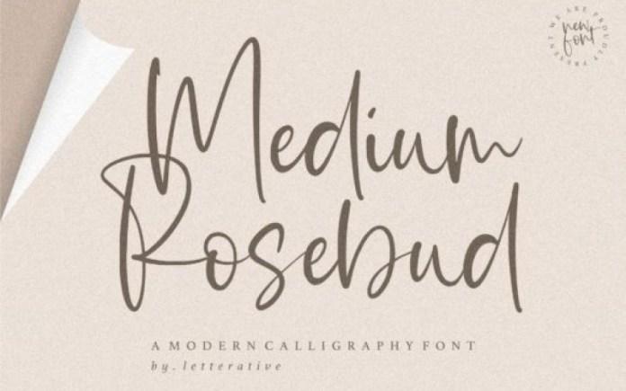 Medium Rosebud Font