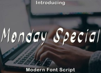 Monday Special Font