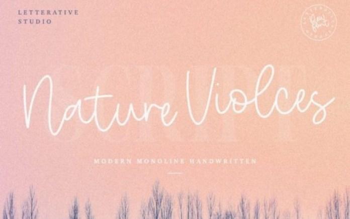 Nature Violces Font