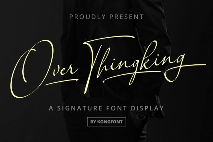Over Thingking Font